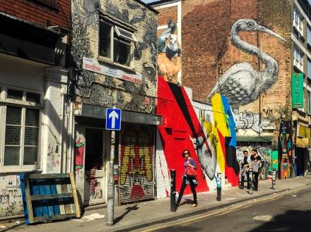 Graffiti and art on Brick Lane